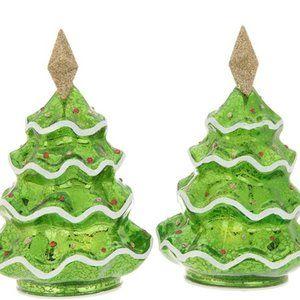 "Set of (2) 6"" Mercury Glass Holiday Icons"